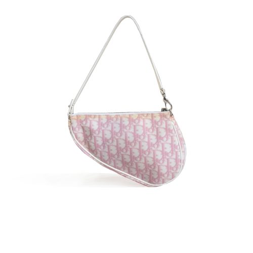 Vintage Dior Trotter Saddle Mini Bag in Baby Pink | NITRYL