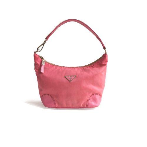Vintage Prada Nylon Mini Shoulder Bag in Pink | NITRYL