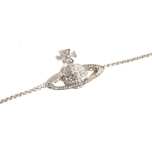 Vivienne Westwood Diamante Orb Choker Necklace in Silver | NITRYL