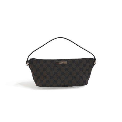 Vintage Gucci Monogram Mini Baguette Bag in Brown | NITRYL