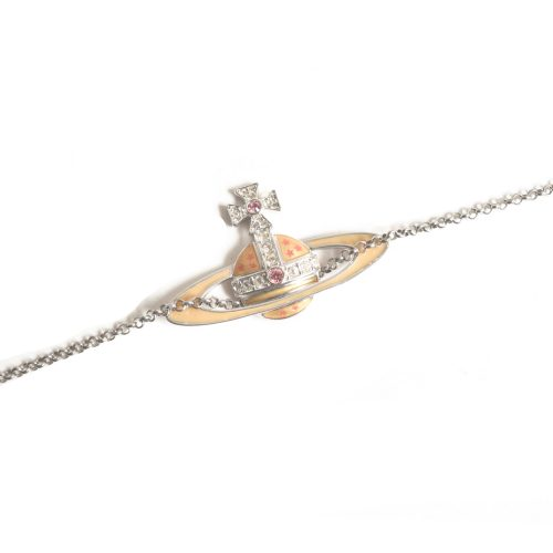 Vivienne Westwood Enamel Large Orb Necklace in Silver | NITRYL