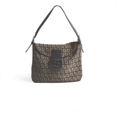 Vintage Fendi Flap Baguette in Brown | NITRYL
