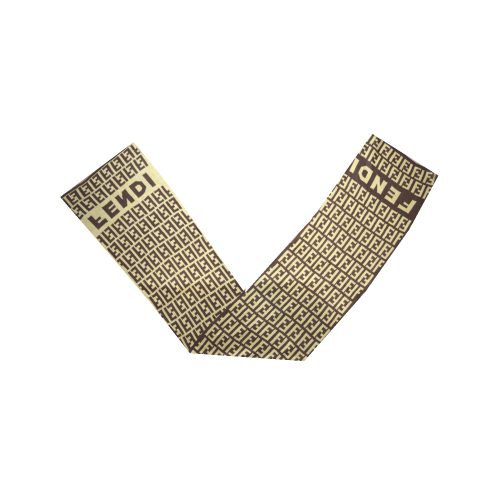 Vintage Fendi Zucca Monogram Wool Scarf   NITRYL