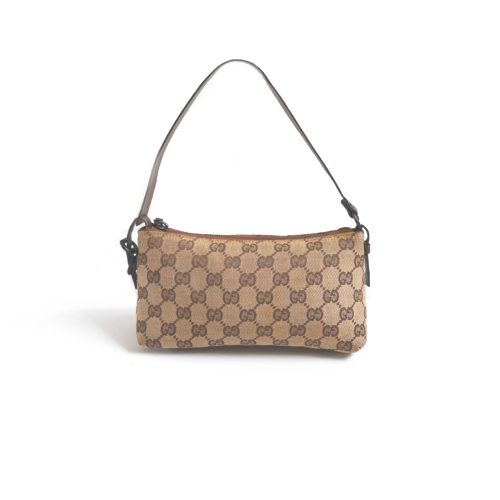 Vintage Gucci Monogram Pochette Mini Bag in Beige | NITRYL