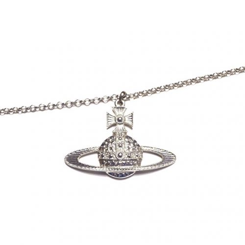 Vivienne Westwood Extra Large Orb Pendant Necklace in Silver | NITRYL