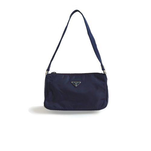 Vintage Prada Nylon Shoulder Bag in Aubergine Purple | NITRYL