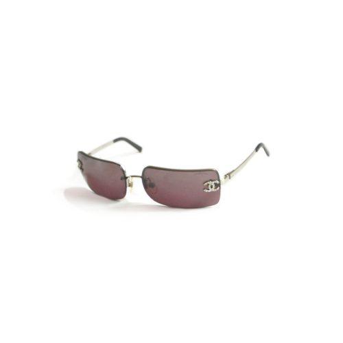 Vintage Chanel Rimless Tinted Diamante Sunglasses in Brown | NITRYL