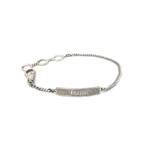 Rare Dior Swarovski Diamante Tag Choker Necklace | NITRYL