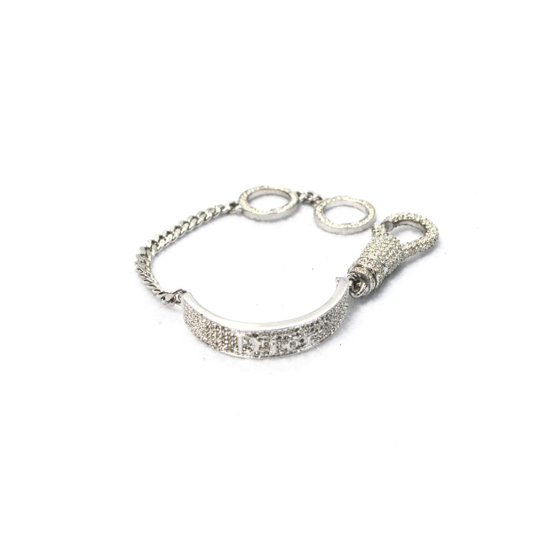 Rare Dior Diamante Tag Bracelet   NITRYL