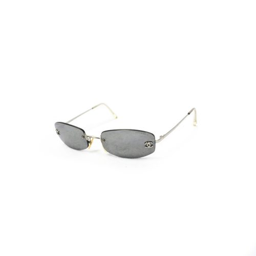 Vintage Chanel Tinted Rimless Sunglasses In Silver | NITRYL