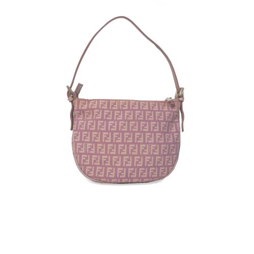 Vintage Fendi Zucchino Monogram Mini Shoulder Bag in Pink   NITRYL
