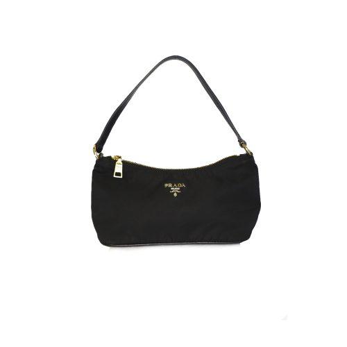 Prada Nylon Mini Shoulder Bag in Black | NITRYL