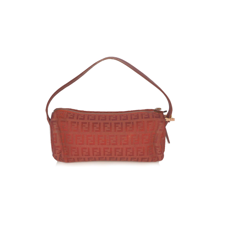 Vintage Fendi Zucchino Monogram Mini Pochette Bag in Red   NITRYL