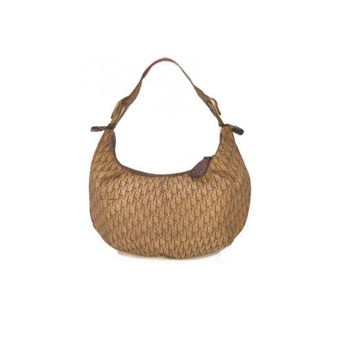 Vintage Dior Monogram Croissant Bag in Brown | NITRYL