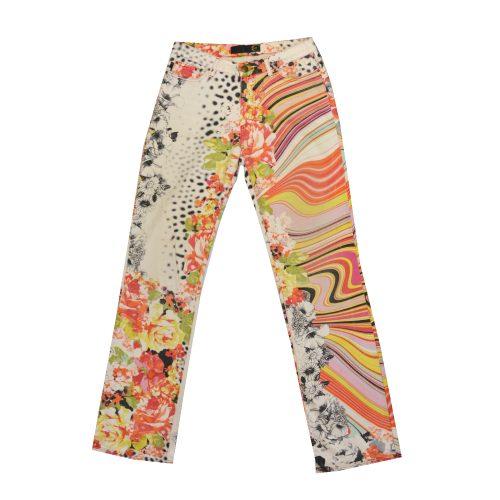 Vintage Cavalli Psychedelic Animal Print Flared Jeans | NITRYL