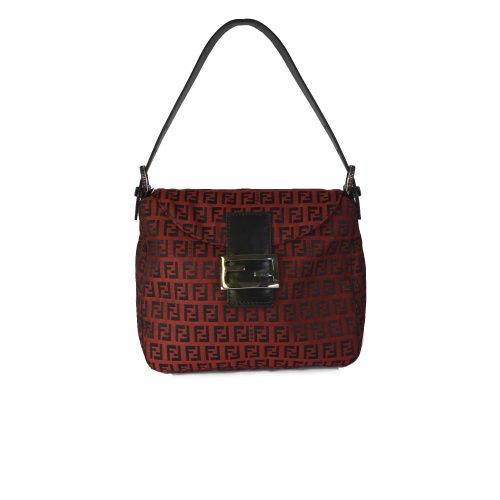 VIntage Fendi Baguette Bag in Red & Black | NITRYL