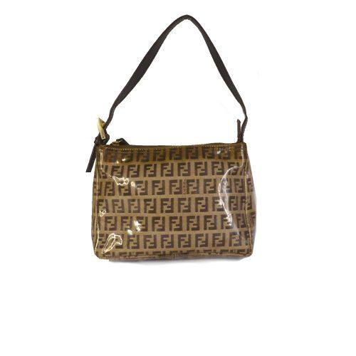 Vintage Fendi Zucchino Monogram Mini Bag in Brown PVC | NITRYL