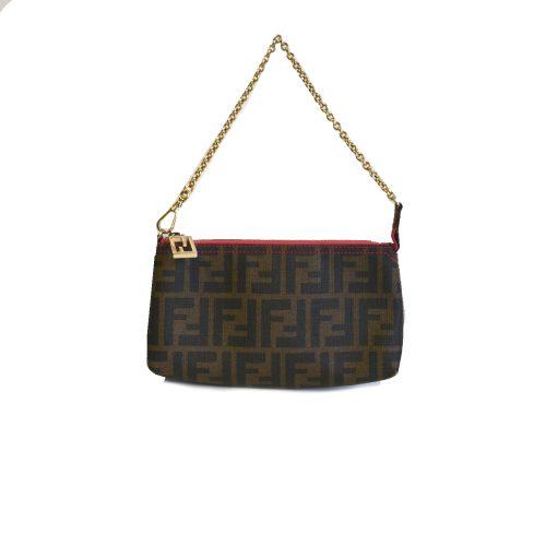 Vintage Fendi Zucca Monogram Pochette Mini Bag | NITRYL