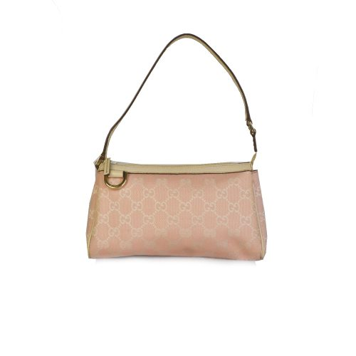 Gucci Monogram Pochette Mini Shoulder Bag in Baby Pink | NITRYL