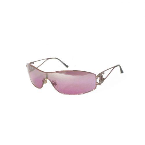 Chanel Ombre Diamante Visor Sunglasses in Pink | NITRYL