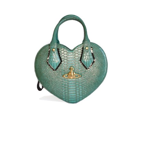 Vivienne Westwood Chancery Heart Bag in Turquoise | NITRYL