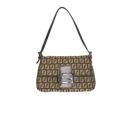 Vintage Fendi Zucchino Monogram Mini Mama Baguette in Brown | NITRYL