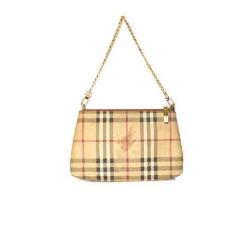 Vintage Burberry Nova Check Chain Pochette Mini Bag | NITRYL