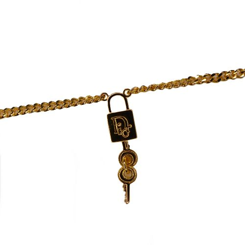 Vintage Dior Padlock Necklace in Gold | NITRYL