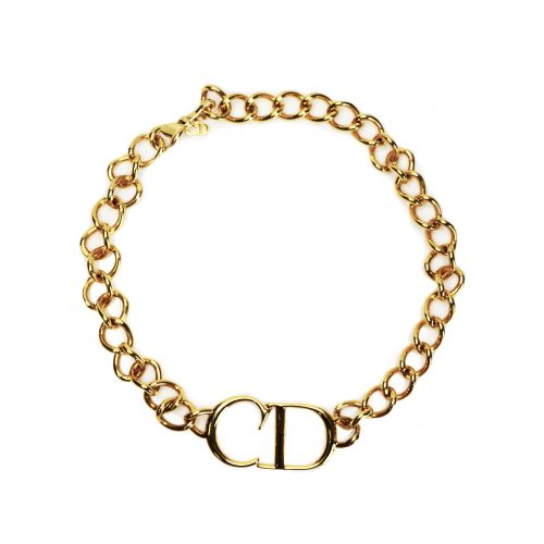 Vintage Dior CD Choker in Gold | NITRYL