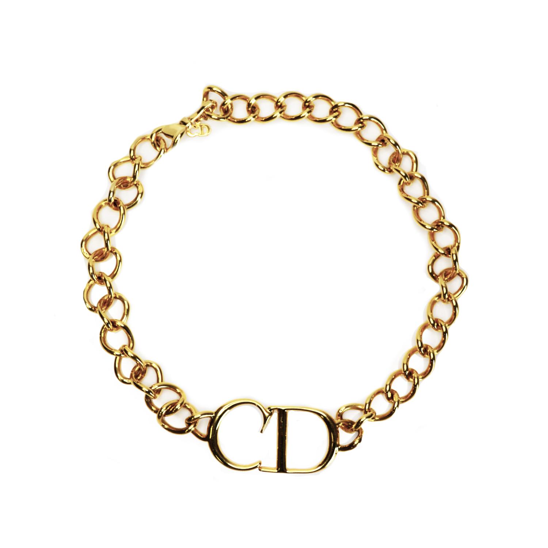 Vintage Dior CD Choker in Gold | NITRYL