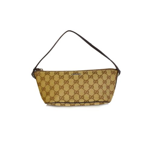 Gucci Monogram Mini Baguette Bag in Beige | NITRYL