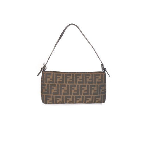 Vintage Fendi Zucca Baguette Shoulder Bag | NITRYL