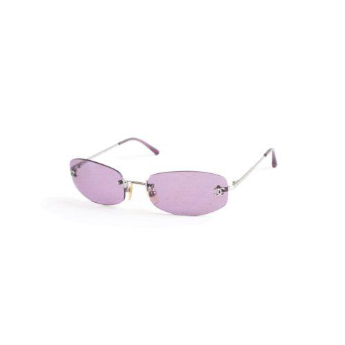 Chanel Tinted Rimless Sunglasses in Purple | NITRYL