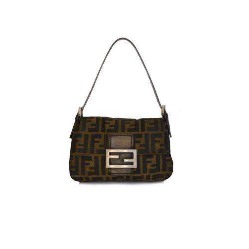 Vintage Fendi Zucca Monogram Mini Mama Baguette Bag | NITRYL
