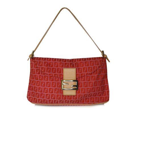 Vintage Fendi Zucchino Monogram Bag in Pink and Red | NITRYL