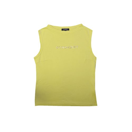 Vintage Burberry Diamante Spellout Tank Top in Lime Green | NITRYL
