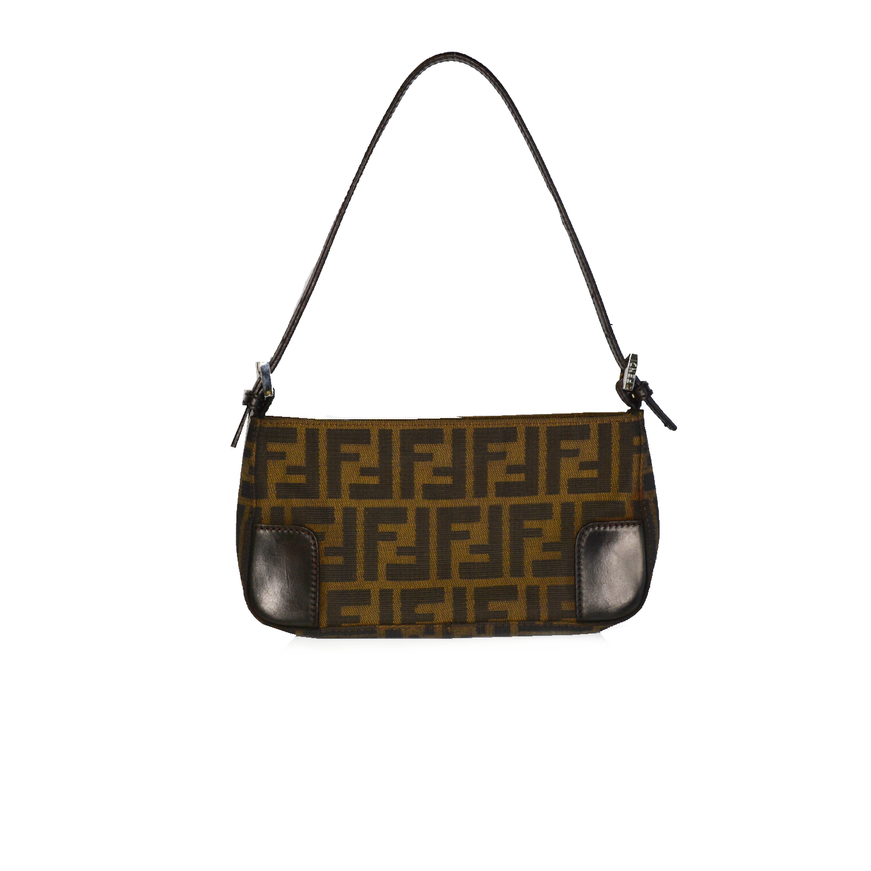 Vintage Fendi Zucca Baguette Shoulder Bag   NITRYL