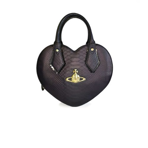 Vivienne Westwood Chancery Heart Bag in Navy Blue | NITRYL