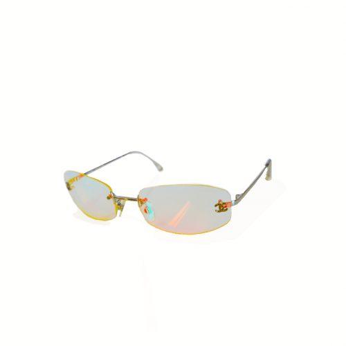 Vintage Rare Chanel Iridescent Rimless Sunglasses   NITRYL