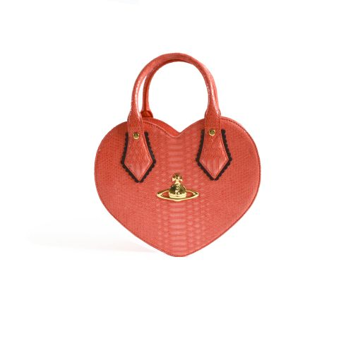Vivienne Westwood Frilly Chancery Heart Bag in Coral
