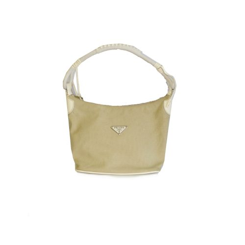 Prada Canvas Shoulder Bag in Beige | NITRYL