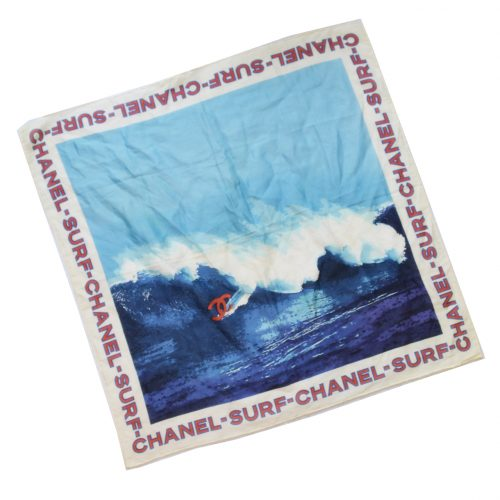 Vintage Chanel Surf 2002 Silk Cotton Scarf | NITRYL