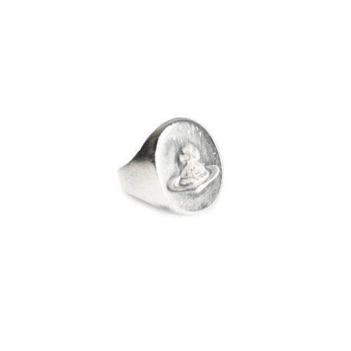 Vivienne Westwood Orb Signet Ring in Solid Silver | NITRYL