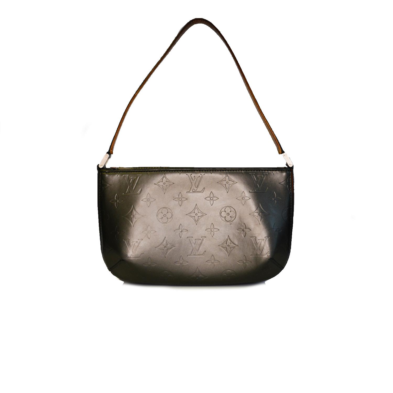 Vintage Louis Vuitton Monogram Baguette Shoulder Bag in Grey | NITRYL