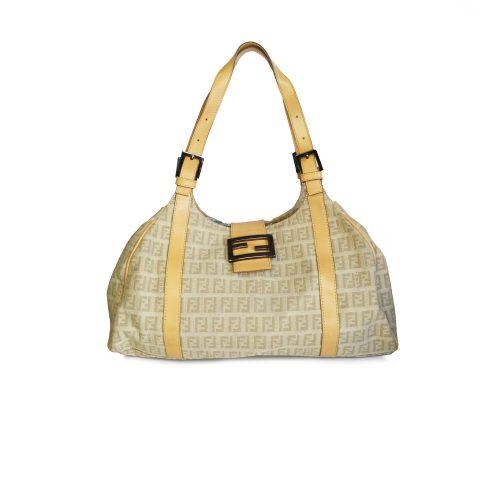 Vintage Gucci Monogram Shoulder Bag in Beige | NITRYL