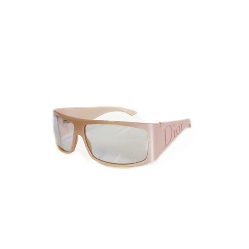Vintage Dior Chunky Spell-out Sunglasses in Baby Pink | NITRYL