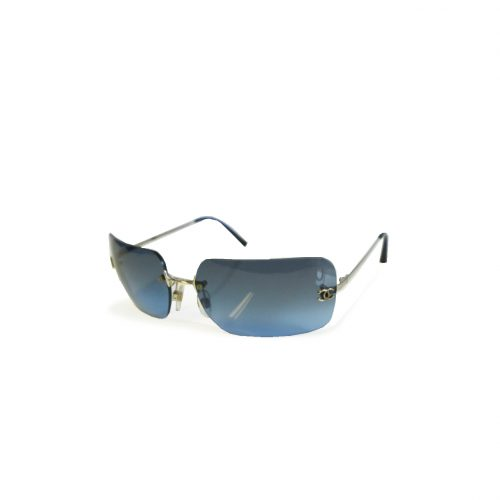 Vintage Chanel Rimless Ombre Sunglasses in Blue | NITRYL