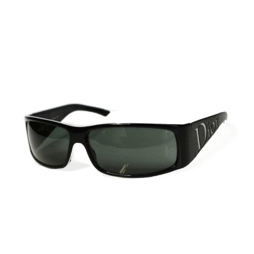 Vintage Dior Chunky Spell-out Sunglasses in Black | NITRYL
