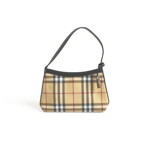 Vintage Burberry Nova Check Mini Baguette Bag | NITRYL