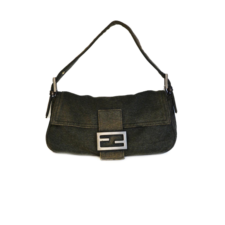 Vintage Fendi Baguette Shoulder Bag in Grey | NITRYL